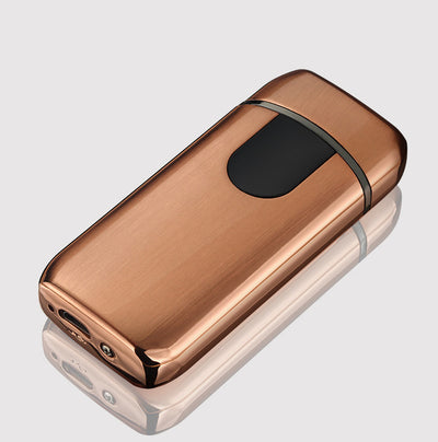 rose gold usb ligher premium quality premium good quality usb lighter - rechargeable windproof lighter gift with personalization - winfinity brands