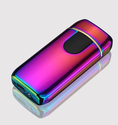 premium good quality usb lighter - rechargeable windproof lighter gift with personalization - winfinity brands  , purple usb lighter