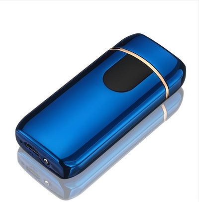 premium good quality usb lighter - rechargeable windproof lighter gift with personalization - winfinity brands  , blue usb lighter