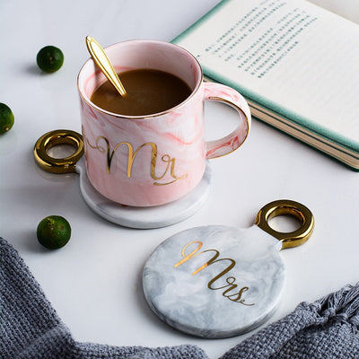 mr and mrs wedding marble coasters - winfinity brands engagement wedding gift