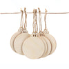 craft wood ornament baubles with burlap string