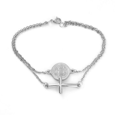 Saint Benedict Medal With Cross Charm