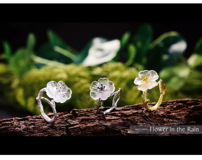 unique lotus flower ring, handmade lotus flower rings  gold silver nad antique silver