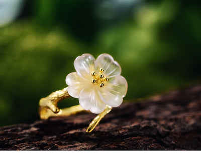 unique lotus flower ring, handmade lotus flower rings  gold ring