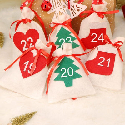 felt advent calendar 1 to 24