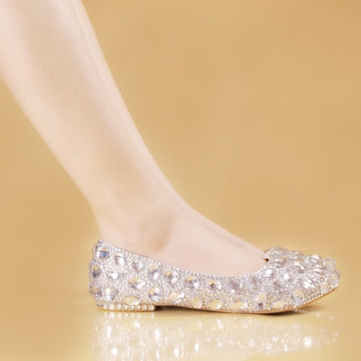 flat crystal rhinestone shoes