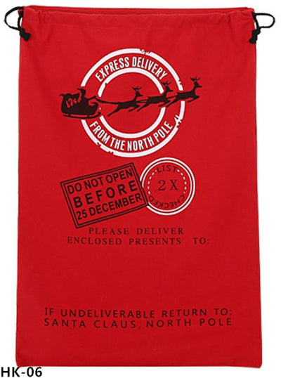 christmas sack, santa delivery sack, red sack do not open before 25 december