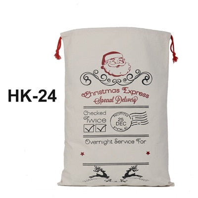 christmas sack, santa delivery sack, christmas express special delivery