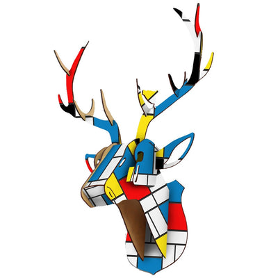 deer stag puzzle wll art colorful retro decor
