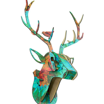 deer stag puzzle wll art colorful