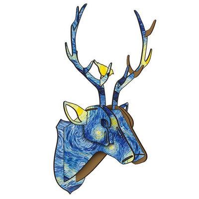 deer stag puzzle wll art colorful arts and crafts vangough