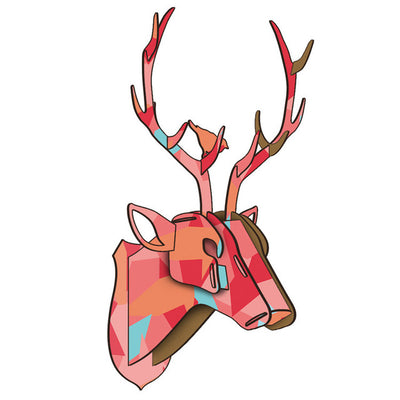 deer stag puzzle wll art colorful arts and craft deer head