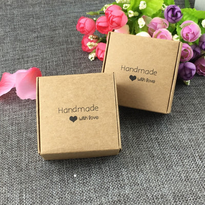 CREATEME™ Little Handmade With Love Kraft Gift Boxes