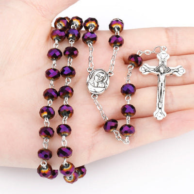 Madonna & Child Glass Bead Rosary