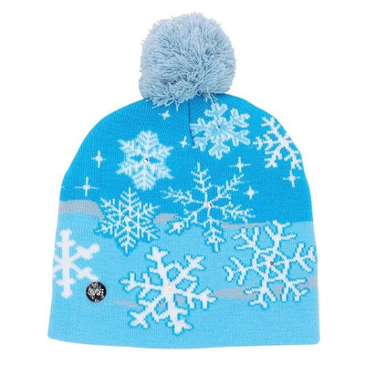 funny christmas light up hat beanie  snowflake light up hat