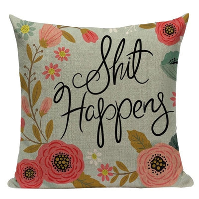 pillow case cushion cover- winfinity brands shit happens