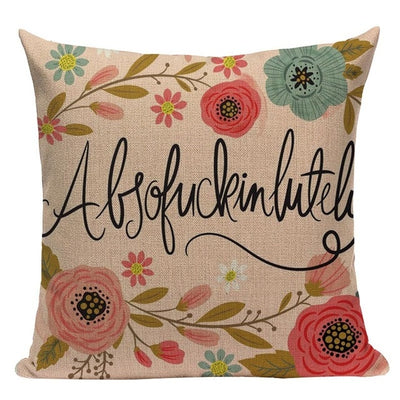 pillow case cushion cover- winfinity brands absofuckinlutely