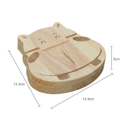 handmade kids hippo tooth box, hippo wood tooth box - winfinity brands