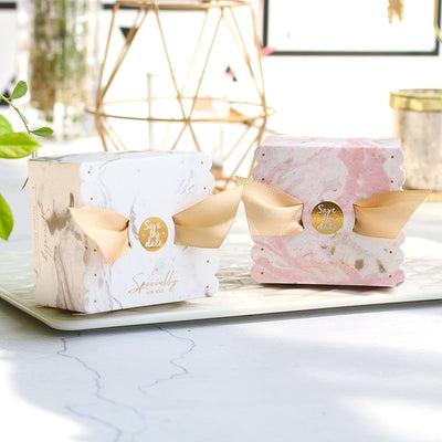 save the date, party favor marble boxes, engagement party gift boxes