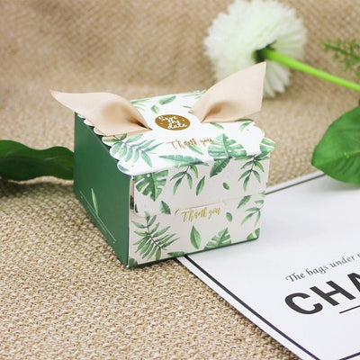save the date, party favor marble boxes, engagement party gift boxes, floral greenery boxes