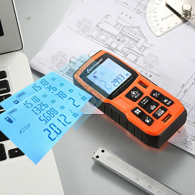 Electronic Measuring Tape for Distance, Area, and Volume