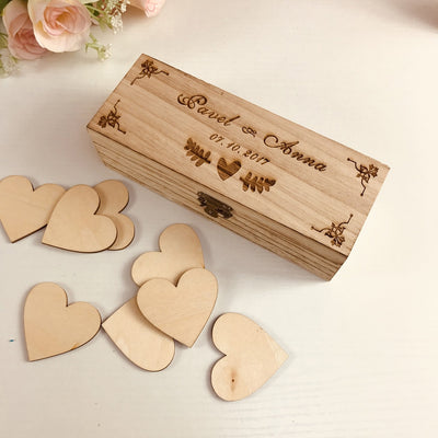 CREATEME™ Personalized Timber Wedding Guest Book Box