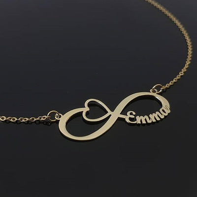 handmade infinity couple's necklace, gift for her, anniversary gift for her, birthday gift for her, silver necklace, gold necklace