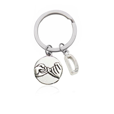 Hand-in-Hand Couples Initial Key Chain (Letters A to M)