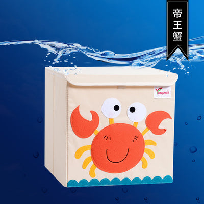 kids storage bin, childrens storage organization idea, kids room decor, storage bin animal theme, baby decor room, playroom decor for kids, crab theme