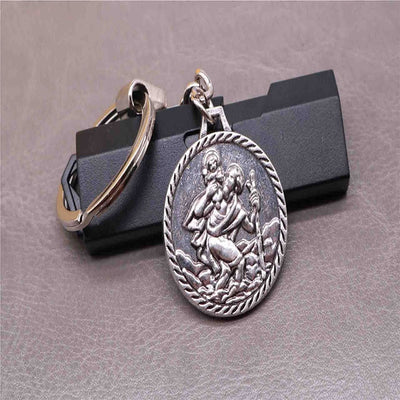 st. christopher patron saint key chain gift - winfinity brands - free world wide shipping