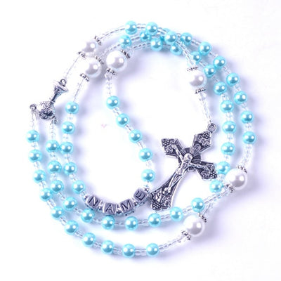 CREATEME™ Classic Rosary with Optional Personalization in Square Letter Beads
