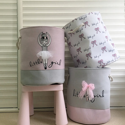 little girl ballerina theme laundry hamper blin
