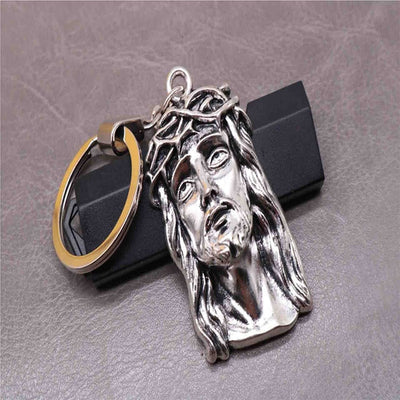 metal silver jesus key chain catholic store winfinity brands