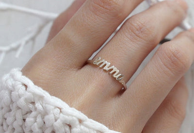CREATEME™ Personalized Stainless Steel Name Ring