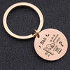birth key chain, baby key chain, custom baby details key chain, rose gold