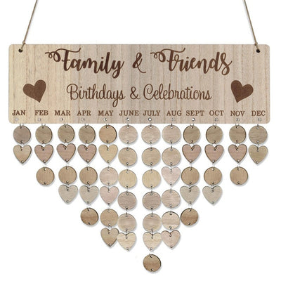 CREATEME™ Family + Friends Birthday Reminder Boards