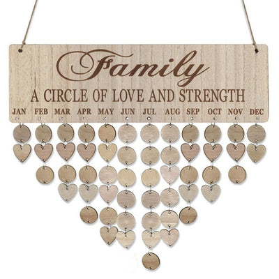 Family a circle of love and strength, birthday board DIY KIT
