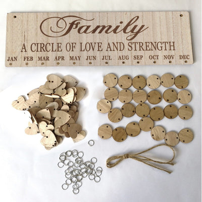 family a circle of love and strength birthday board plaque create your own birthday calendar