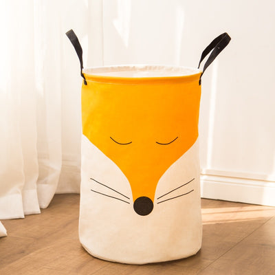 Woodland Theme Fox Girl or Boy Kids Toy Storage Basket