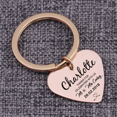 CREATME™ Custom Thanks For Celebrating With Us Key Chain