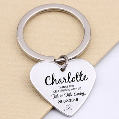 CREATEME™ CustomWedding Thanks For Celebrating With Us Key Chain