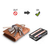 modern wallet carbon fiber slim multifunctional wallet key usb metal black