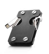 carbon fiber slim multifunctional wallet key usb metal black