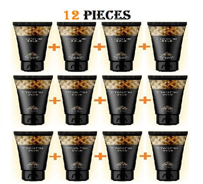 12 PIECE TITAN GEL GOLD FOR MEN GUARANTEED ORIGINAL FROM RUSSIA