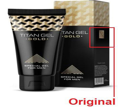 48 PIECE TITAN GEL GOLD FOR MEN GUARANTEED ORIGINAL FROM RUSSIA