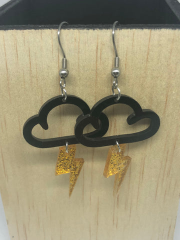 Lightening Cloud Earrings