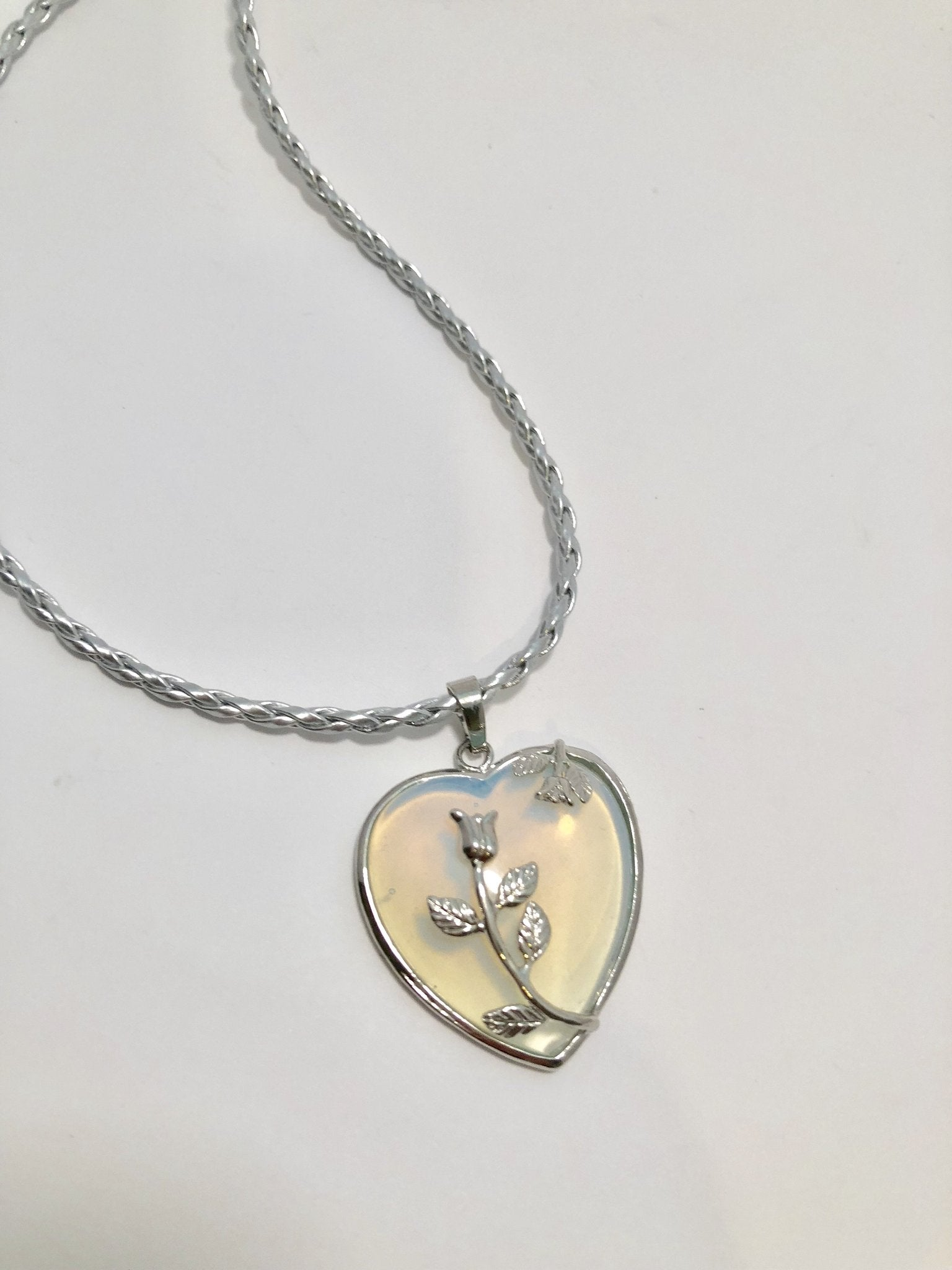 Opalite Heart Necklace