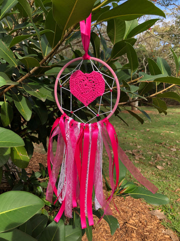 Pink Heart Dreamcatcher- Small