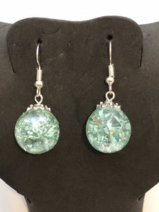 Cracked Marble Sterling Silver Earrings