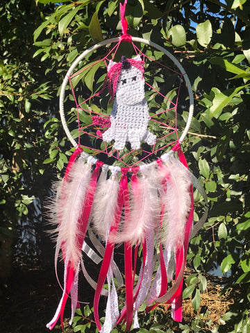 Pink Unicorn Dreamcatcher- Large